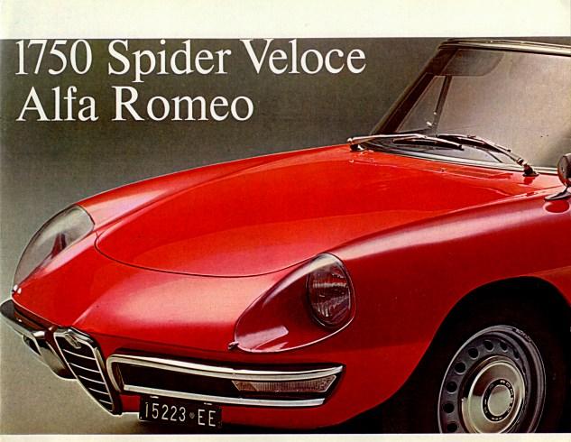1968 1750 spider veloce alfa romeo english. Black Bedroom Furniture Sets. Home Design Ideas